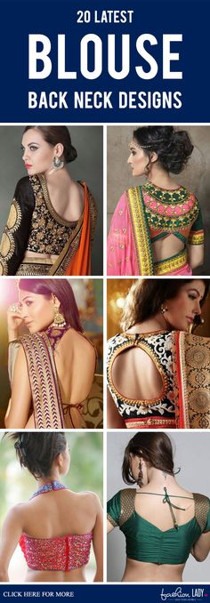 Know latest back neck designs blouse designs get new ideas for you to try. We have loaded beautiful blouse back neck designs, ready made blouse back neck designs and more. Blouse Back Neck Designs, Blouse Designs, Saree Jackets, Beautiful Blouses, Sari, Womens Fashion, Outfit Ideas, Outfits, Woman