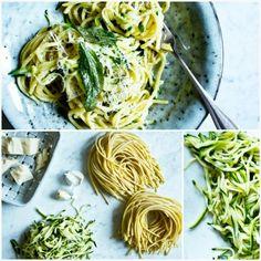 Špagety s cuketou z jedné pánve