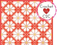Crochet pattern С2С blanket. by CrochetC2CLily on Etsy