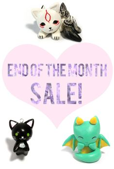 Enjoy 10% off any item in my store from now until June 1st. Items included in the sale are animal charms, Anime charms, Pokemon necklaces, dragon figurines, and much more! This sale also includes 10% off custom orders, so please message me before June 1st.