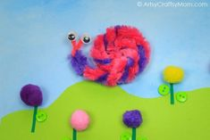 Pipe Cleaner Snail Crafts for Kids via Spring Crafts, Bug Crafts, Fine motor Skill Pipe Cleaner Art, Pipe Cleaners, Crafts For Kids To Make, Art For Kids, Kids Crafts, Bug Crafts, Paper Crafts, Snail Craft, Crafty Kids