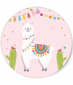 Llama Sticker Llama birthday Alpaca Fiesta Mexican - Did you know Llama's and Alpaca's are symbols of perseverance strength communication and confidence which leads to success? Alpacas, Cute Alpaca, Llama Alpaca, Alpaca Animal, Alpaca Drawing, Llama Pictures, Llama Images, Llama Decor, Llama Birthday