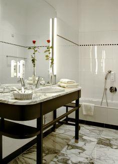 Bathroom at the Falkensteiner Hotel Grand MedSpa Marienbad, Czech Republic Medical Spa, Spa Treatments, Hotel Spa, Czech Republic, Modern, Dining Table, Bathroom, Furniture, Home Decor