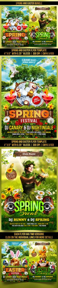 Happy Easter Pinterest Happy easter, Flyer template and Event flyers