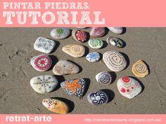 Piedras pintadas: Tutorial y materiales / Painted stones: Tutorial and materials