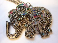 Elephant Chain Sweater Necklace