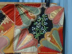 crazy quilt embroidery - Google Search