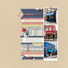 #papercraft #scrapbook #layout.  laying it out | of love and character