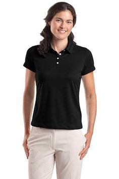 db2f8c20df9 Nike 354064 Women s Dri-FIT Pebble Texture Polo Varsity Red X-Large.  Four-button placket. Self-fabric collar.