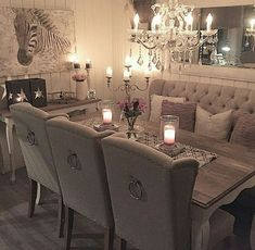 Luxury Dining Room, Dining Room Design, Dining Room Furniture, Dining Room Table Centerpieces, Centerpiece Ideas, Room Interior, Interior Design, Dining Room Inspiration, Living Room Decor