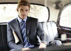 Calvin Klein Grey Steel Blazer, Polo Ralph Lauren Stripped Navy Tie #fashion #fashionoutfits