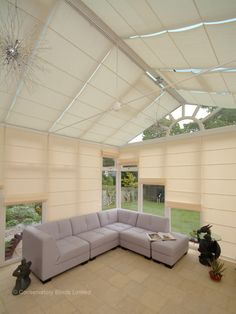 Roman conservatory blinds keep out the suns heat in summer. Please visit us at www.barnesblinds.co.uk