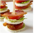 Tea Sandwich:                                            Bacon, Lettuce & Tomato-                      substitute w/ sprouted grain bread                   and veggie or turkey bacon