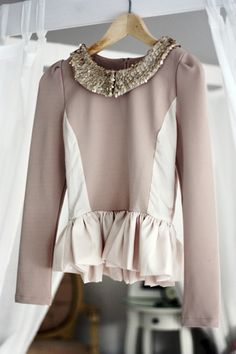 peplum,fashion,style  Perfectly beautiful. Feminine. I wish it were hanging in my closet!