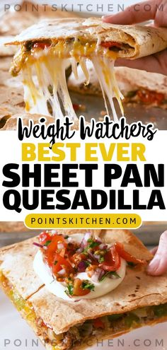 Best Ever Sheet Pan Quesadillas #dinner #quesadilla #best #weightwatchers #weight_watchers #ketogenic #lowcarb #slimmingworld Weight Watchers Casserole, Poulet Weight Watchers, Plats Weight Watchers, Weight Watchers Diet, Weight Watchers Chicken, Ww Recipes, Mexican Food Recipes, Dinner Recipes, Cooking Recipes
