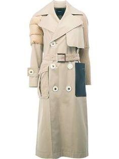 b224e9afa84 padded shoulder mid coat Feather Coat