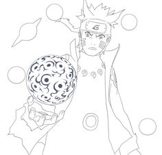 Naruto ShukakuGan [Lineart] by on DeviantArt Naruto Sketch Drawing, Anime Drawing Styles, Naruto Drawings, Anime Sketch, Kid Naruto, Naruto Art, Cute Kawaii Drawings, Cool Art Drawings, Desenhos Clash Royale