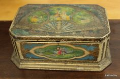 antique box just like mine! Old Boxes, Antique Boxes, Makeup Holder, Antique Jewelry, Jars, Jewelry Box, Exotic, Decorative Boxes, Container