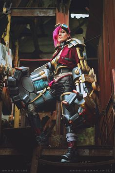 LoL - Piltover's Reinforcer by Semashke on DeviantArt Vi Cosplay, Cosplay Costumes, Vi Lol, Esports, League Of Legends, My Friend, Steampunk, Deviantart, Comics