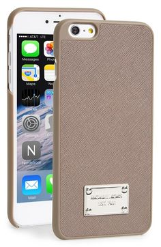MICHAEL Michael Kors Saffiano Leather iPhone 6 Plus & 6s Plus Case available at #Nordstrom