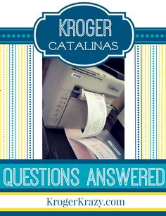 **Kroger Catalina Questions Answered** What is a Catalina? What does OYNO mean? Do Catalinas Roll?  Learn the rules and tricks to get maximum savings on your next trip to Kroger! Embrace the power of the catalina today! #Kroger