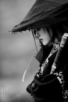 Samurai girl by mr. Samurai Art, Female Samurai, Samurai Warrior, Jolie Photo, Asian Style, Japanese Art, Japanese Sleeve, Asian Art, Asian Woman