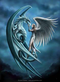 Angel and dragon