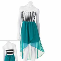 Trixxi Chevron Hi-Low Dress from Kohls... Cute, but I don't care much for the back.