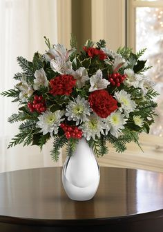 Teleflora's Silver and Snowflakes Bouquet - simple and sophisicated