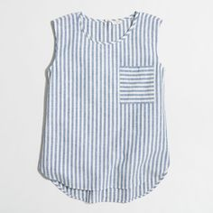 J.Crew Factory striped shell top ($50) ❤ liked on Polyvore featuring tops, j crew tops, stripe top, shell tops and striped top