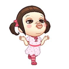 LINE Official Stickers - Neneng Gesrek: Little Crazy Girl Example with GIF Animation Cartoon Gifs, Cartoon Jokes, Cartoon Images, Cute Cartoon Wallpapers, Love Cartoon Couple, Cute Love Cartoons, Chibi Couple, Animated Movie Posters, Cute Love Gif