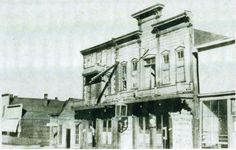 The Gem Theater in Deadwood, South Dakota opened on April 7, 1877. The owner, Al Swearengen, provided a wide range of entertainment but the primary form of entertainment was prostitution. The Gem became one of the most notorious brothels in the west because of its debasement of women.  Photo courtesy of the Centennial Collection – Deadwood Public Library.
