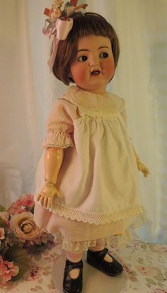 *Her facial expression made me chuckle.  So adorable - MS. 25 IN Kammer & Reinhardt #126 Toddler Antique Doll