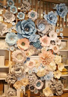 ✔ 30 how to use giant paper flowers at your wedding 00035 Large Paper Flowers, Paper Flower Wall, Paper Flower Backdrop, Giant Paper Flowers, Diy Flowers, Fabric Flowers, Faux Flowers, Paper Decorations, Flower Decorations