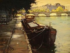 Parking in Paris by Brian Blood - Oil