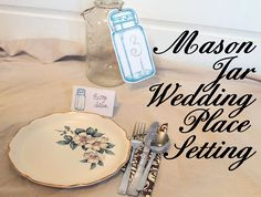 The Graphics Fairy - DIY: Mason Jar Wedding Place Cards & Table Numbers