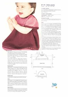 Modele tricot layette gratuit robe Knitting For Kids, Baby Knitting Patterns, 4 Kids, Free Pattern, Knit Crochet, Women, Boutiques, Anastasia, Baby Dresses