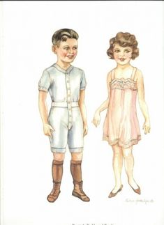 Brooke and Buddy of the Paper Dolls of by Evelyn Gathings, Dover Publications, 2000 Paper Dolls Clothing, Doll Clothes, Paper Art, Paper Crafts, Look At My, Vintage Paper Dolls, Paper Toys, Vintage Ephemera, Printable Paper