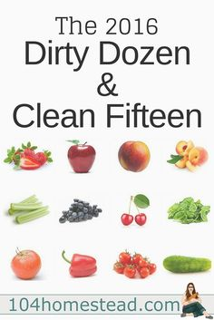 The EWG has set about to test the amounts of pesticide residue on the foods we eat. This is the report of the 2016 dirty dozen and clean fifteen.