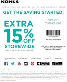 12468a7af7 Check out offers from Kohls using GeoQpons app on your phone. Visit  www.geoqpons