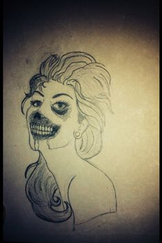 Zombie Female, Art, Drawing S, Kunst, Art Education, Artworks