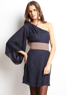 ARK & CO  One Shoulder Long Sleeve Dress. LOVE ARK & CO.