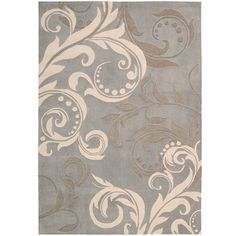 @Overstock - This beautiful hand tufted area rug features a rich grey, green and ivory color palette. Exquisite detail carved deeply into the dense, cut-and-loop pile for a dramatic texture and bold contrast in this rug.http://www.overstock.com/Home-Garden/Hand-tufted-Silver-Cosmopolitan-Rug-8-x-106/6201392/product.html?CID=214117 $482.69