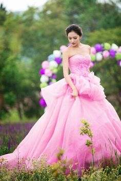 Gorgeous dress for a quinceanera or sweet sixteen party.