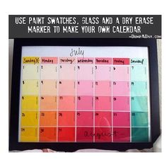 Make an easy Calendar