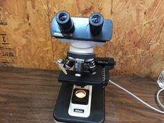 Nikon Alphaphot 2 YS2-T Compound Biological Binocular Microscope w/ 4 Objectives #Nikon