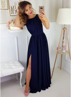Ellie - Granatowa długa sukienka z gipiurą Evening Outfits, Evening Gowns, Bridesmaid Dresses, Prom Dresses, Formal Dresses, Cool Style, My Style, Ball Dresses, Womens Fashion