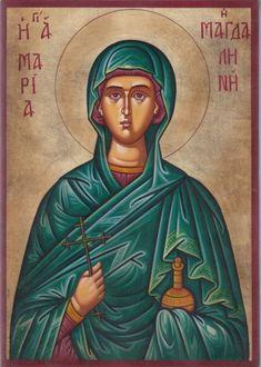 St. Mary Magdalene - July 22 Spiritus, Byzantine Art, Mary Magdalene, Knights Templar, Orthodox Icons, Tall Women, New Testament, Santa Maria, Saints