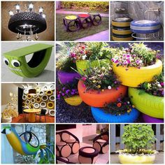 9 different ways to re use old tires