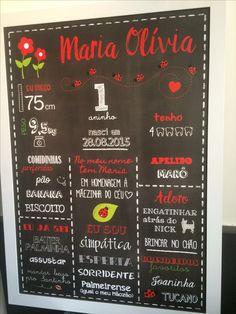Chalkboard festa Joaninha! #ladybugparty #festajoaninha Made by @lovechalkboard Encomendas para sabrinagforte@gmail.com